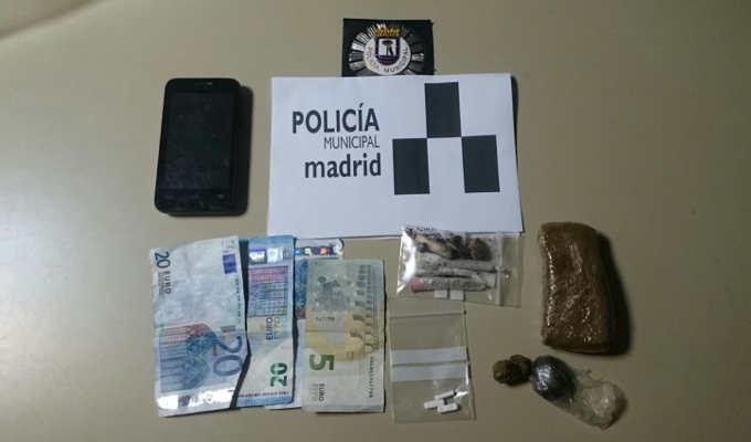 Detenido por drogas en Carabanchel