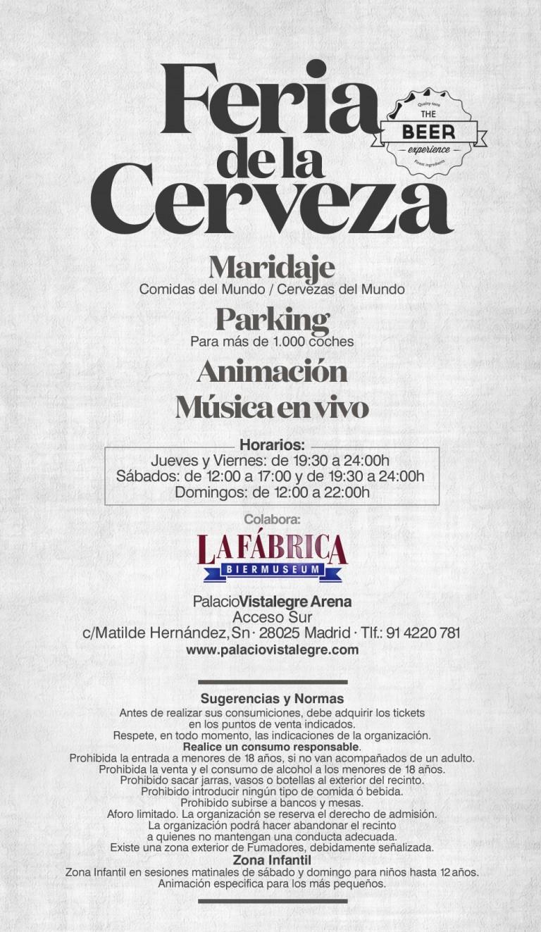 Feria de la Cerveza Palacio Vistalegre 2016